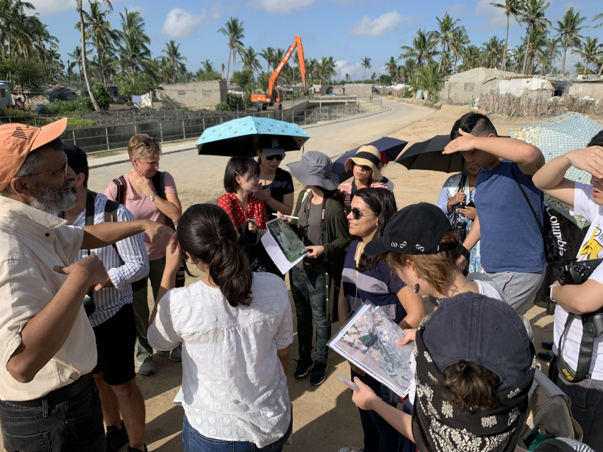 Students visit water infrastructure in Beira, Mozambique